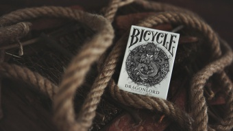Карты Bicycle Dragonlord White Edition Playing Cards (+5 гафф карт)