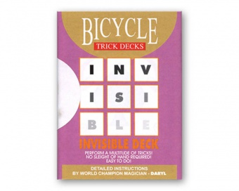 Карты Bicycle Invisible deck